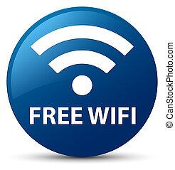 Free wifi blue round button