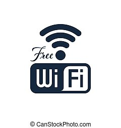 Free Wifi icon design, isolated vector illustrations
