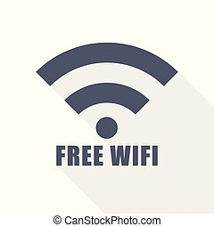 Free wifi icon, vector illustration