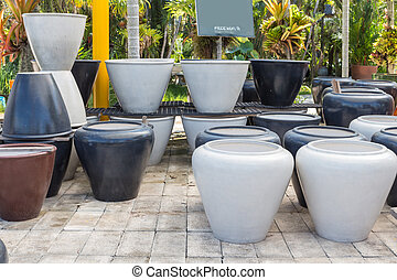 Free wifi in colorful jar garden