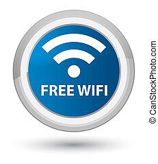 Free wifi prime blue round button