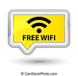 Free wifi prime yellow banner button