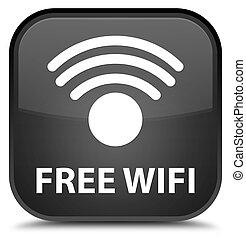Free wifi special black square button