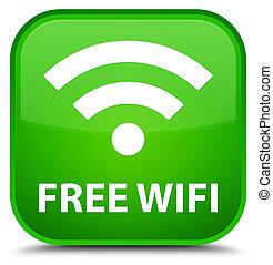 Free wifi special green square button