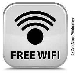 Free wifi special white square button