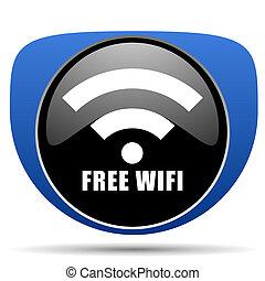 Free wifi web icon