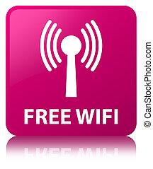 Free wifi (wlan network) pink square button