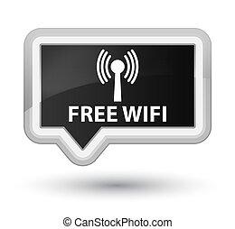Free wifi (wlan network) prime black banner button