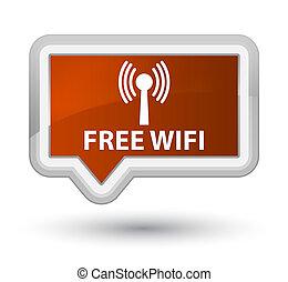 Free wifi (wlan network) prime brown banner button