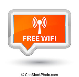 Free wifi (wlan network) prime orange banner button