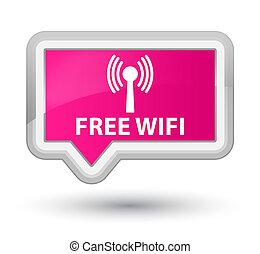 Free wifi (wlan network) prime pink banner button