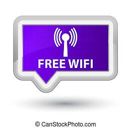 Free wifi (wlan network) prime purple banner button