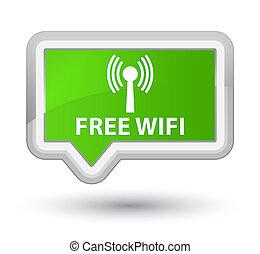 Free wifi (wlan network) prime soft green banner button