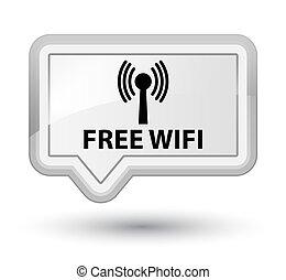 Free wifi (wlan network) prime white banner button