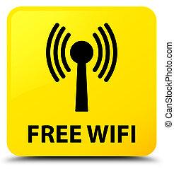 Free wifi (wlan network) yellow square button