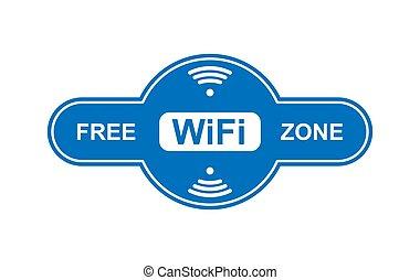 Free WiFi zone icon, simple design