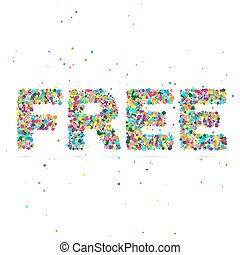 free word consisting of colored particles