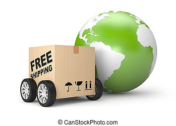 Free worldwide shipping - Transportation and shipping. ...