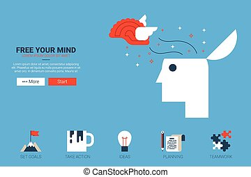 free your mind concept - Free your mind - creative idea...