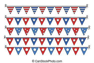 freedom celebration flag borders