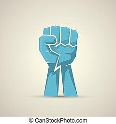 freedom concept. vector fist icon