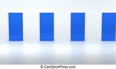 Freedom: Door opening to light