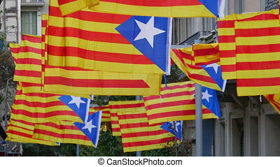 Freedom for Catalonia Independence - Secessionist...
