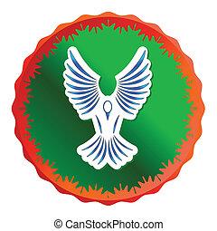 Freedom icon illustration, isolated on a white background