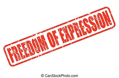 FREEDOM OF EXPRESSION red stamp text