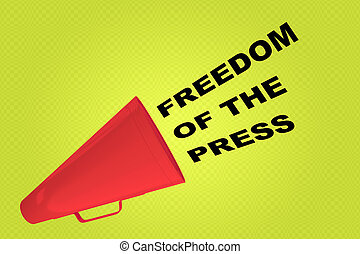 FREEDOM OF THE PRESS concept