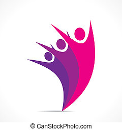 freedom or celebration icon design