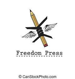 freedom press concept vector design template