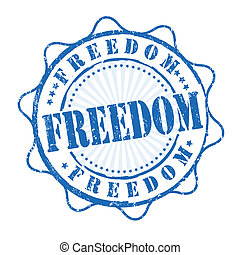 Freedom stamp - Freedom version grunge rubber stamp on...