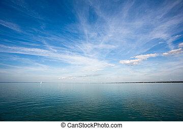 Freedom, sunshine, sky, sailing.