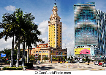 The Freedom Tower is a building in Miami, Florida, designed by Schultze and Weaver. It is currently used as a contemporary art museum and a central office to different disciplines in the arts associated with Miami Dade College.