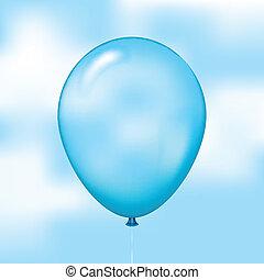 blue balloon on sky background