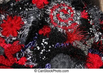 Freeform Crochet Fabric Closeup