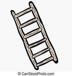 freehand, はしご, 漫画, 引かれる