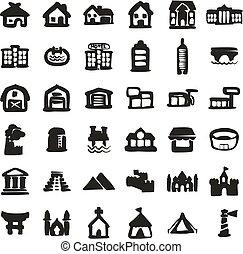 freehand, 建筑物, 圖象, 充滿
