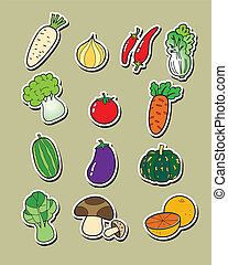 freehand, disegno, vegetables.