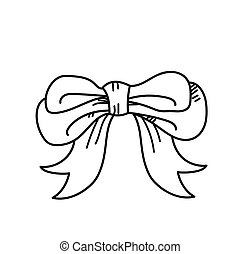 Freehand drawing bow ties illustration