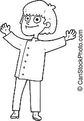 black and white cartoon chef