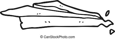 black and white cartoon crumpled paper plane