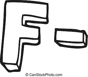 black and white cartoon F grade