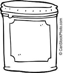 black and white cartoon jam - freehand drawn black and white...