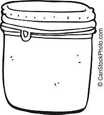 black and white cartoon jar
