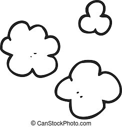 black and white cartoon puff of smoke