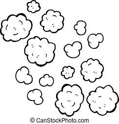 black and white cartoon smoke clouds