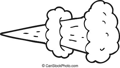 black and white cartoon smoke explosion