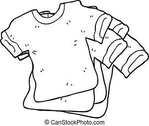 black and white cartoon t shirts